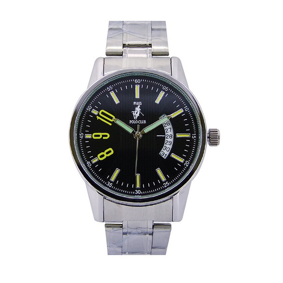 Paris Polo Club นาฬิกาข้อมือ 3PP-1504235G ดำ