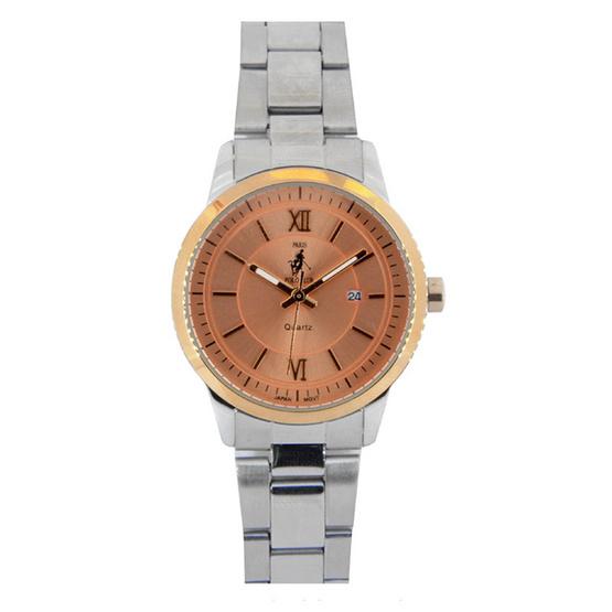 Paris Polo Club นาฬิกาข้อมือ 3PP-1504224LT ชมพูทอง