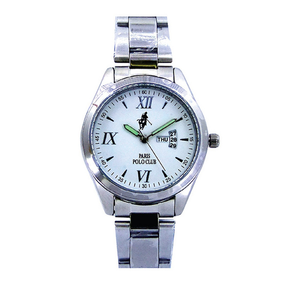 Paris Polo Club นาฬิกาข้อมือ 3PP-1504227G ขาว