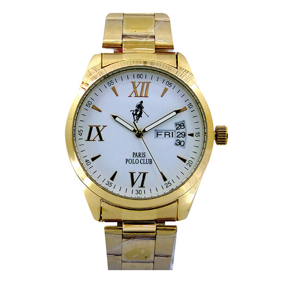 Paris Polo Club นาฬิกาข้อมือ 3PP-1504228G ทอง
