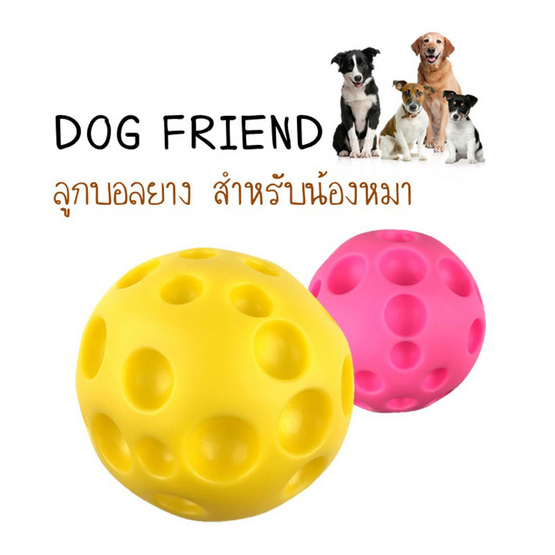 DOG FRIEND ลูกบอลยาง 10 cm (คละสี)
