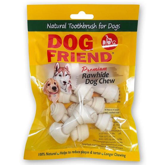 DOG FRIEND ขนมขบเคี้ยวสุนัข กระดูกผูก 2.5 นิ้ว สีขาว 6 ชิ้น (3 แพ็ค)