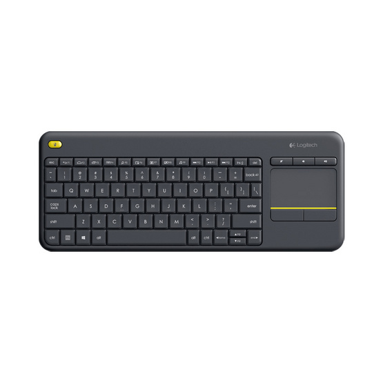 Logitech living room wireless keyboard k400 plus for Living room keyboard