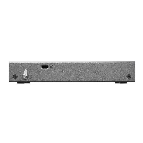 NETGEAR ProSAFE Plus 5-Port Gigabit PoE Pass Through Switch GS105PE