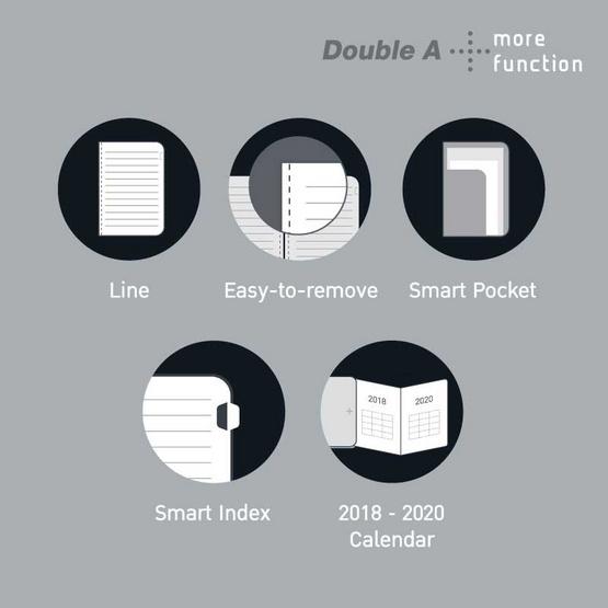 Double A Plus สมุดเย็บกี่ B5 80แกรม 80แผ่น