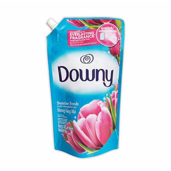 Downy น้ำยาปรับผ้านุ่ม กลิ่นซันไรซ์ เฟรช 1600 มล. ถุงเติม สีฟ้า