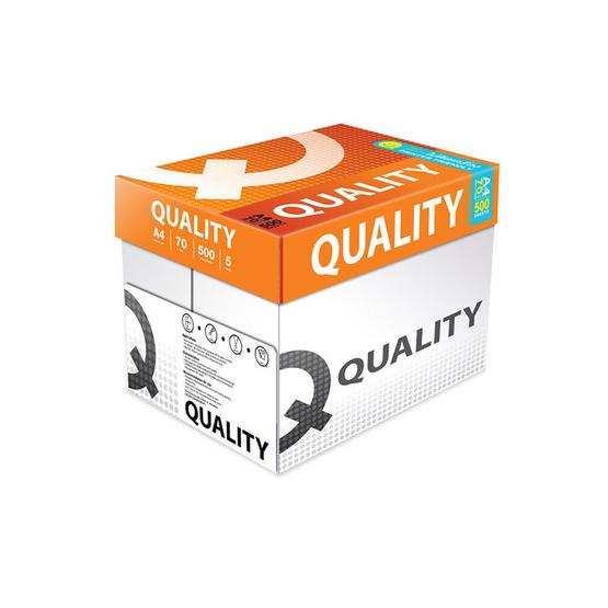 Quality กระดาษถ่ายเอกสาร A4 70 แกรม ส้ม (5 รีม/กล่อง)