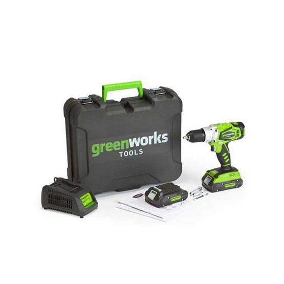 Greenworks สว่านโรตารี่ ขนาด 24V พร้อมแท่นชาร์จและแบตเตอรี่