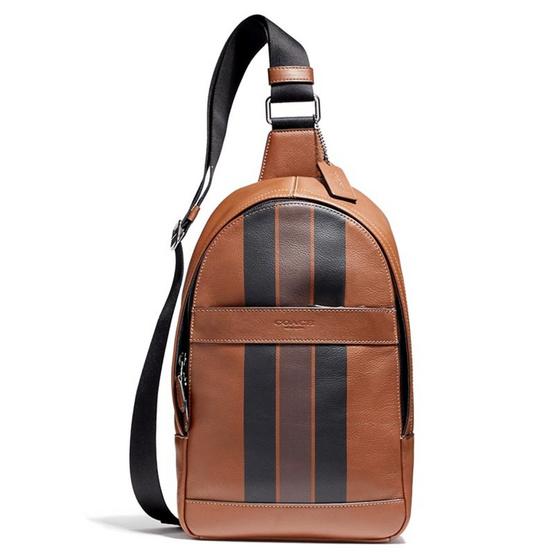 กระเป๋า COACH F72226 CHARLES PACK IN VARSITY LEATHER