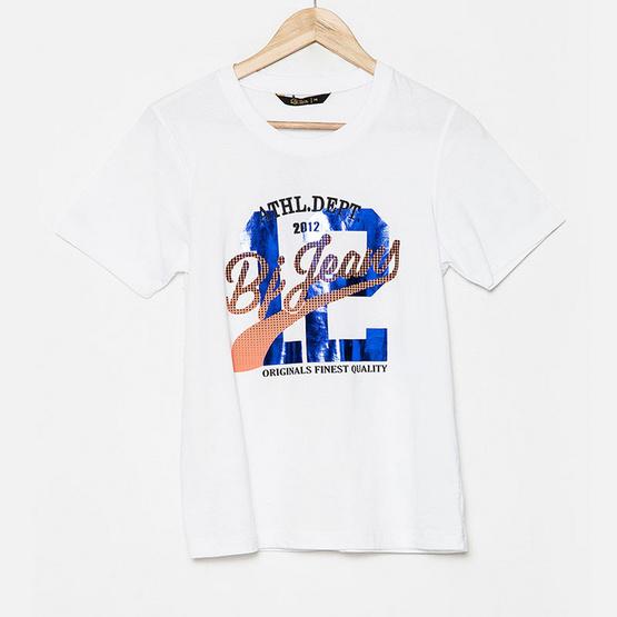 BJ Jeans เสื้อยืด Foiled Polka Graphic