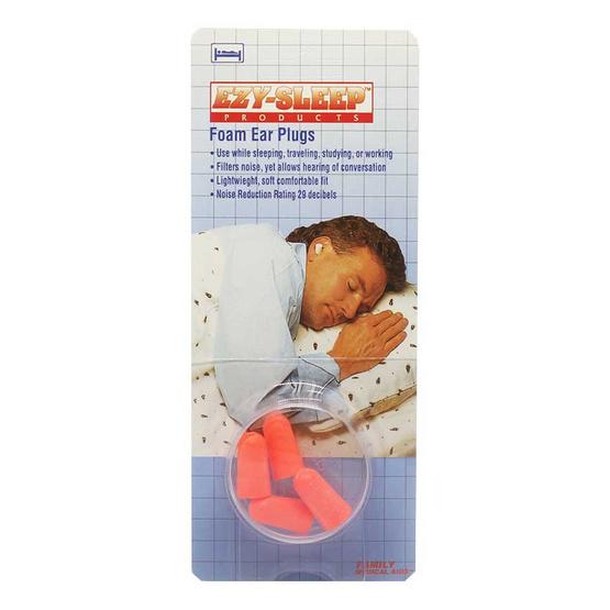 ezy sleep ที่อุดหูแบบโฟม จำนวน 2 คู่ คละสี