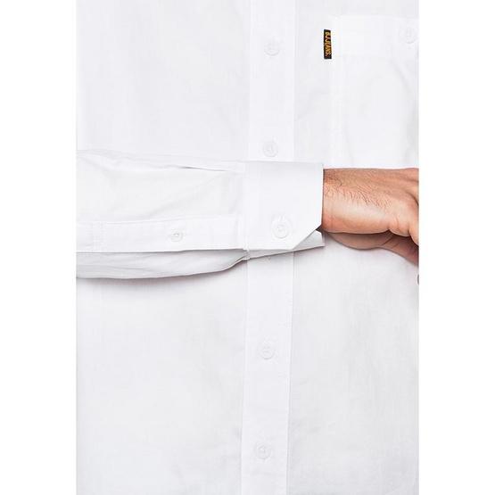 BJ JEANS เสื้อเชิ้ตแขนยาว รุ่น BJWL-1112 #Twin Buttoned Flappy ขาว