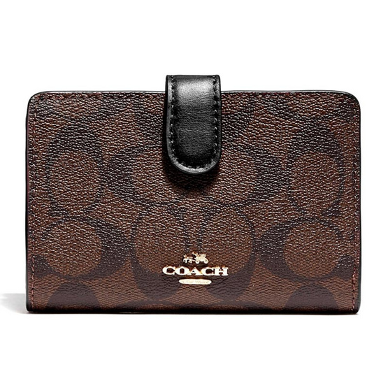 COACH กระเป๋าสตางค์ F23553 MEDIUM CORNER ZIP WALLET (IMAA8) [MCF23553IMAA8]