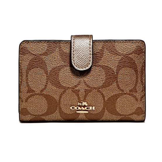 COACH กระเป๋าสตางค์ F23553 MEDIUM CORNER ZIP WALLET (IMCA9) [MCF23553IMCA9]