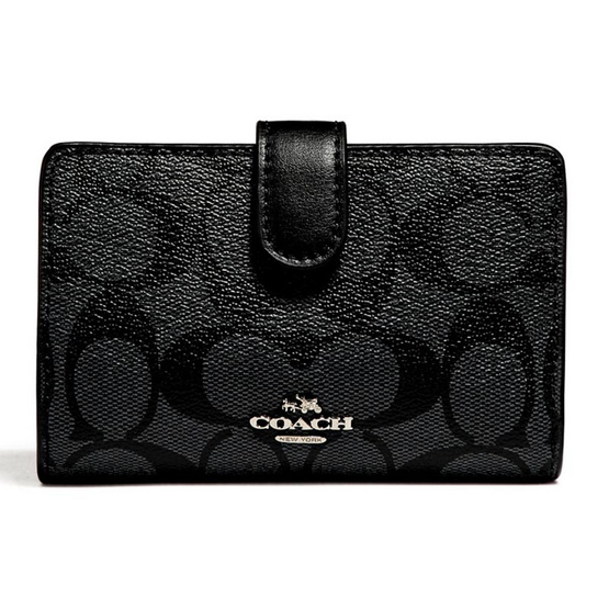 COACH กระเป๋าสตางค์ F23553 MEDIUM CORNER ZIP WALLET (SVDK6) [MCF23553SVDK6]