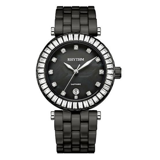 Rhythm นาฬิกาข้อมือ Ceramic รุ่น C1104C04