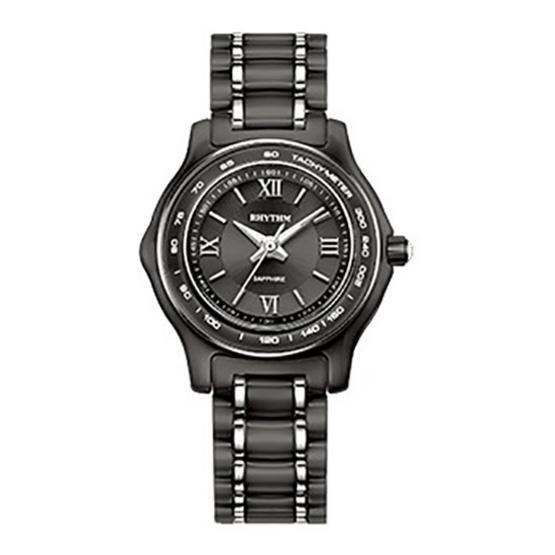 Rhythm นาฬิกาข้อมือ Ceramic รุ่น C1102C03