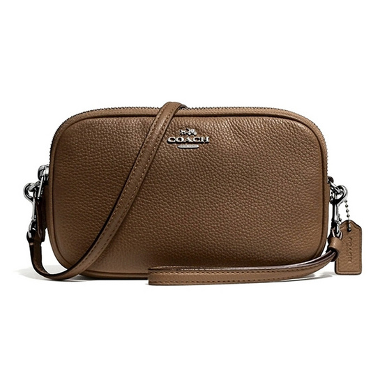 COACH กระเป๋า 65547 CROSSBODY CLUTCH IN POLISHED PEBBLE LEATHER