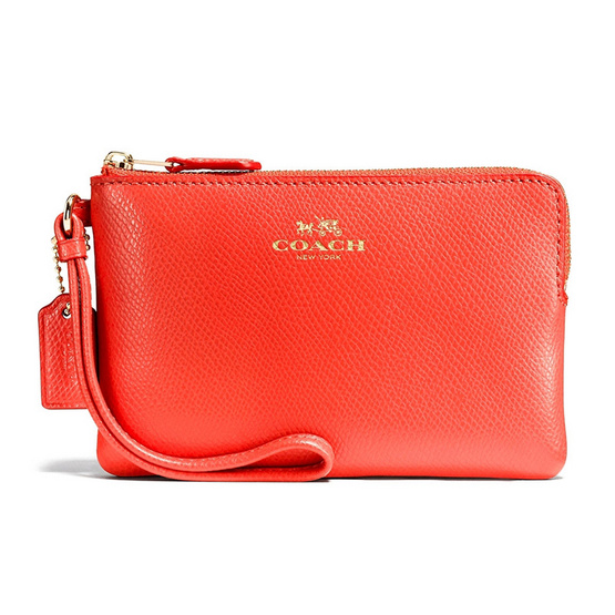 COACH กระเป๋า F54626 CORNER ZIP WRISTLET IN CROSSGRAIN LEATHER