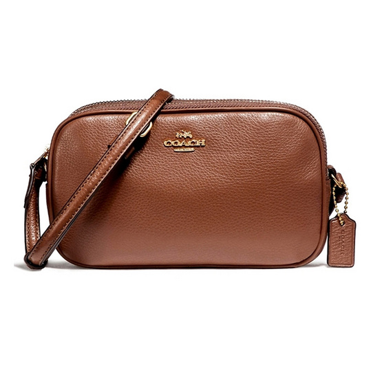 COACH กระเป๋า F65988 CROSSBODY POUCH IN PEBBLE LEATHER