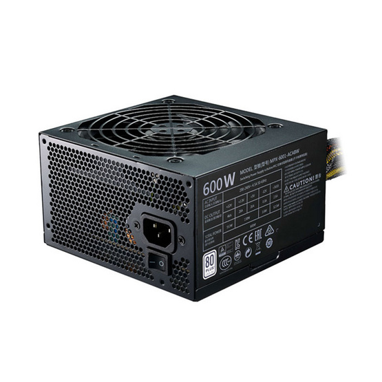 Cooler Master Power Supply MasterWatt Lite 600W 230V EU R/ 80 Plus W.