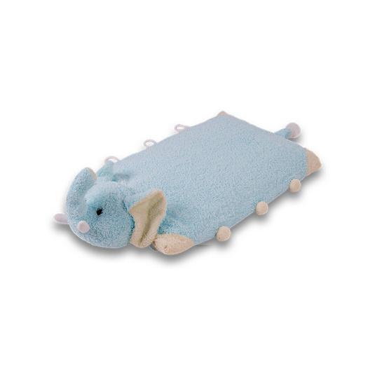 Green Latex หมอนตุ๊กตายางพารา 3 in 1 ลายช้างสีฟ้า