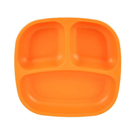 Re-Play จานหลุมสำหรับเด็ก สีส้มเข้ม