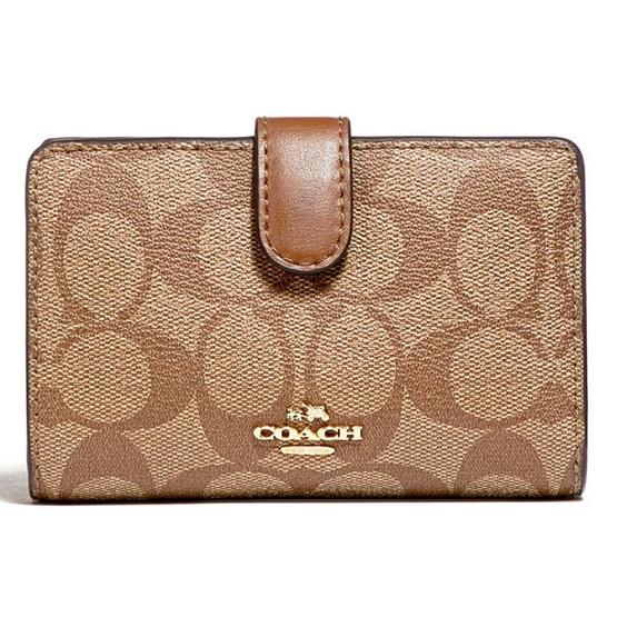 COACH กระเป๋าสตางค์ F23553 Medium Corner Zip Wallet