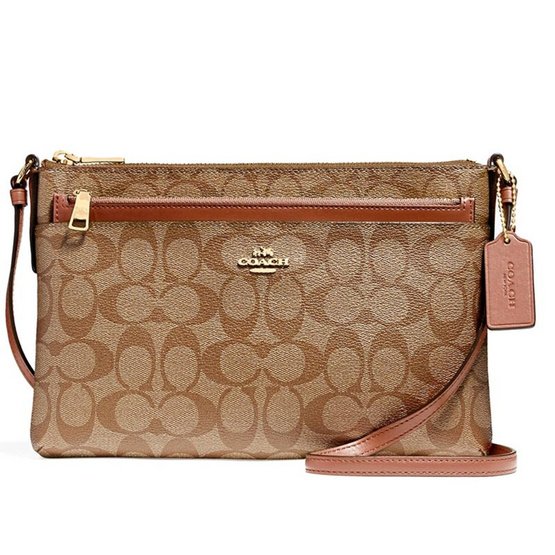 COACH กระเป๋าสะพาย F58316 East/West Crossbody with Pop up Pouch in Signature