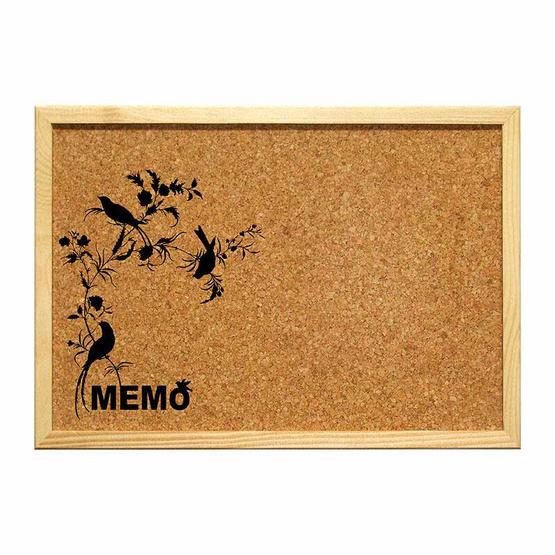 Robin กระดานไม้ก๊อกขอบไม้ พิมพ์ลาย 30x40 ซม. (คละลาย 1 ชิ้น)