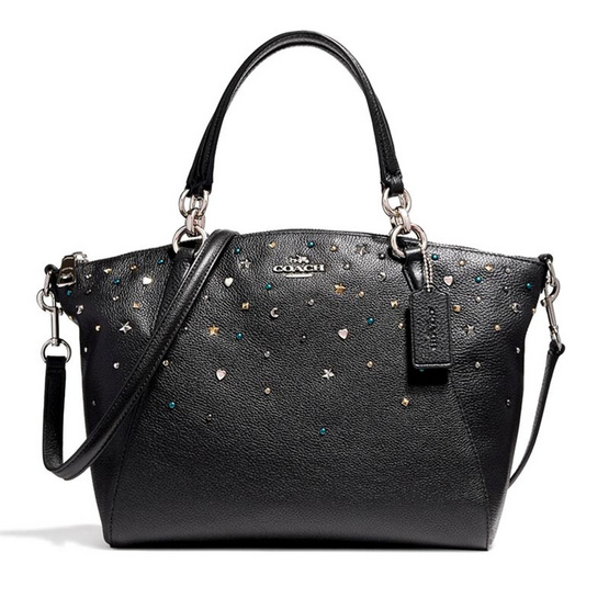 COACH กระเป๋าสะพาย F22312 Small Kelsey Satchel with Stardust Studs