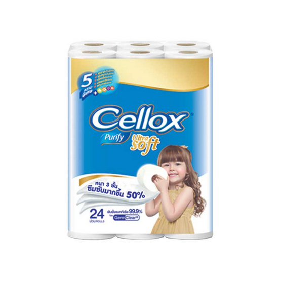 Cellox พิวริฟาย อัลตร้าซอฟท์ 24 ม้วน