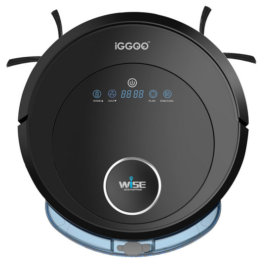 IGGOO หุ่นยนต์ทำความสะอาด Wise GX3 สีดำ