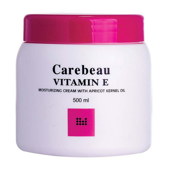 Carebeau Vitamin E Body Cream สูตรเข้มข้นขาวอมชมพู 500 g