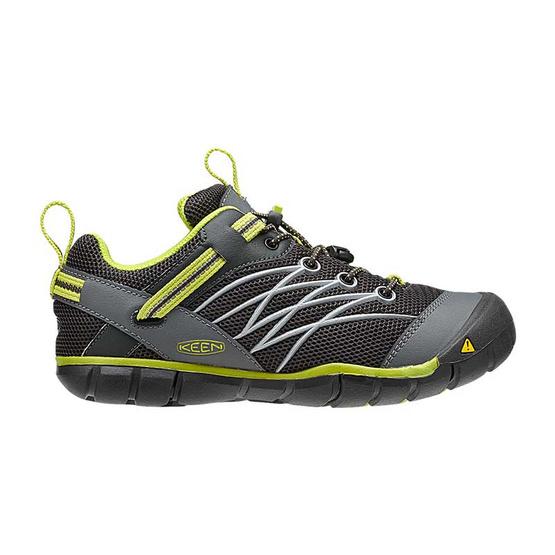 KEEN รองเท้าเด็ก รุ่น Y-CHANDLER CNX RAVEN/BRIGHT CHARTREUSE