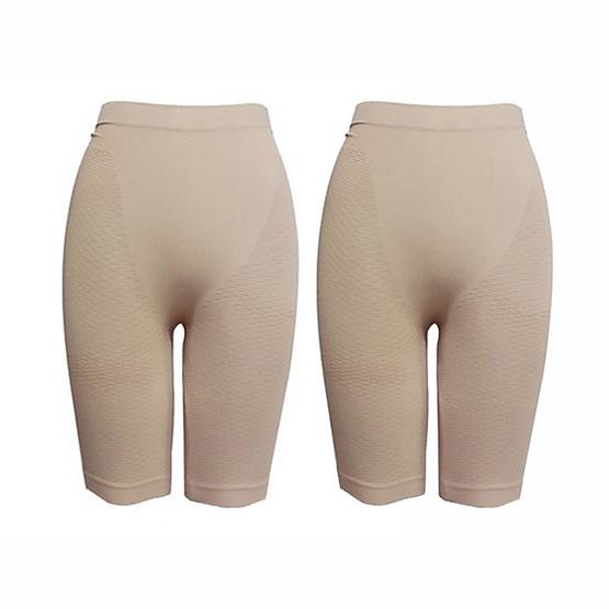 SWANS basic girdle แพคคู่ กางเกงกระชับสัดส่วน Free Size สีเนื้อ