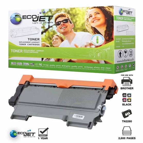 Ecojet Toner Cartridge For Brother TN2280 / TN450 / TN2260