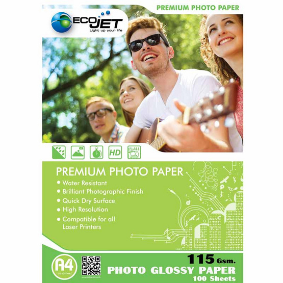 Ecojet Glossy Paper 115 G / 100 Sheets (A4)