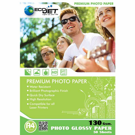 Ecojet Glossy Paper 130 G / 50 Sheets (A4)