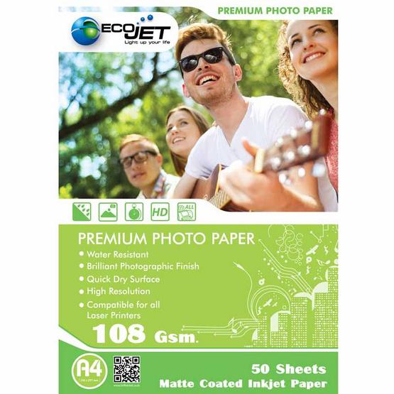 Ecojet Glossy Paper Matt 108 G/50 Sheets (A4)