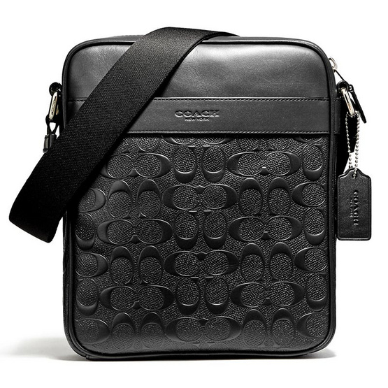 COACH กระเป๋า CHARLES FLIGHT BAG IN SIGNATURE CROSSGRAIN LEATHER