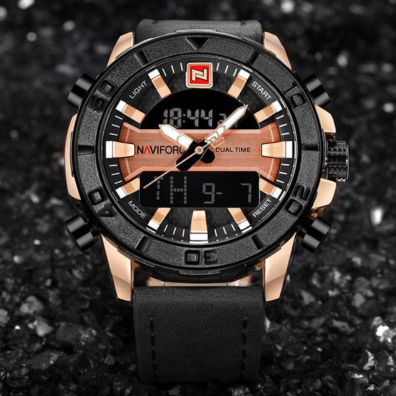 Naviforce นาฬิกา รุ่น NF9114M สีดำ