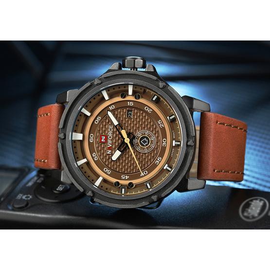 Naviforce นาฬิกา รุ่น NF9083M สีน้ำตาล
