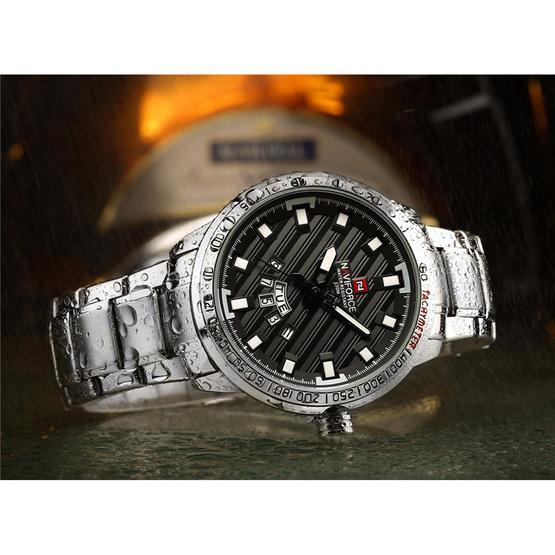 Naviforce นาฬิกา รุ่น NF9090M สีเงิน