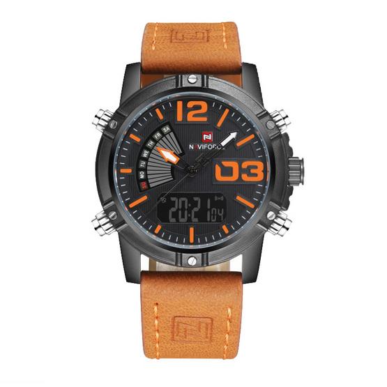 Naviforce นาฬิกา รุ่น NF9095M สีน้ำตาล