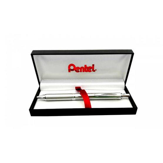 Pentel ปากกาโรลเลอร์หมึกเจล Energel Sterling BL407 ด้ามอัลลอยด์ 0.7 มม.
