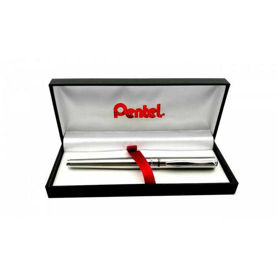 Pentel ปากกาโรลเลอร์หมึกเจล Sterling K600 ด้ามสีเงิน 0.7 มม.
