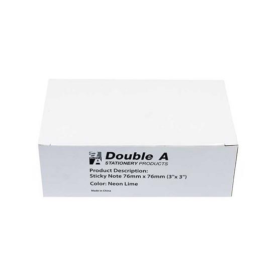 Double A กระดาษโน๊ต ขนาด 3 x 3 นิ้ว (บรรจุ 12 ชิ้น/กล่อง)