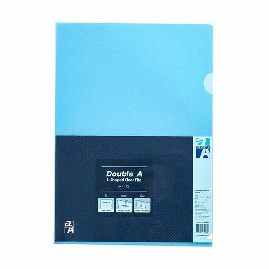 Double A แฟ้มซองเอกสาร A4 สีฟ้า (12 ชิ้น/แพ็ค)