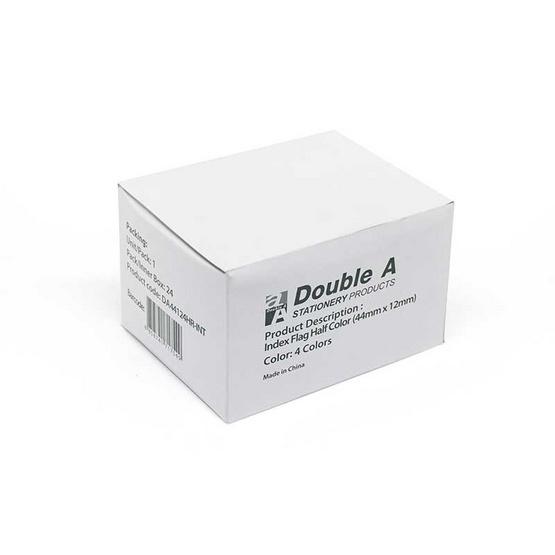 Double A Paper Index  ขนาด 50 x 12 มม. คละ 4 สี (บรรจุ 12 ชิ้น/กล่อง)